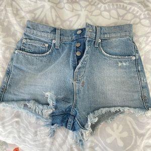 Ksubi High Rise Buttonfly Shorts